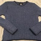 Absolutely Brand Juniors V-neck Sweater Sz Medium Blue Cute! Free Shipping