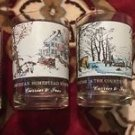 Currier & Ives Arby's Winter Theme Glasses Set Of 4 Vintage Colllectibles