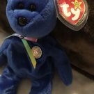 Ty Beanie Babies CLUBBY 1998, Rare Blue W/ Tag Protector Free Shipping
