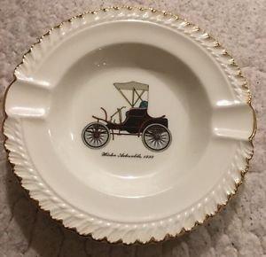 Harker Pottery Ashtray Winton Automobile 1898 antique car vintage mid century