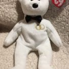 "TY BEANIE BABIES 2001 ""MR"" WEDDING BEAR w/Swing Tag Protector Cute!"