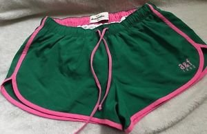Abercrombie Kids Girls Athletic Running shorts XL Green & Pink Cute!