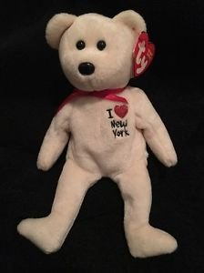 TY Beanie Babies *I LOVE NY Bear RETIRED with TAG * New York City Free Shipping