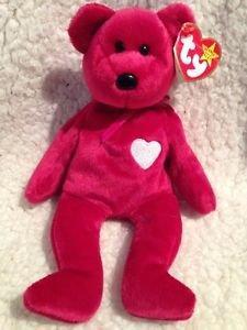 """TY BEANIE BABY RETIRED Rare 1999 Valentina Bear 8"""" Free Shipping"""