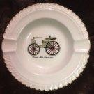 Harker Pottery Ashtray Duryea's Motor Wagon 1895 antique car vintage mid century
