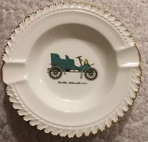 Harker Pottery Ashtray Cadillac Automobile 1903 Antique Car Vintage Collectible