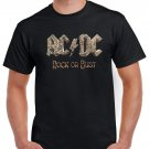 Rock Or Bust ACDC T-shirt AC/DC Hard Rock Top Tee