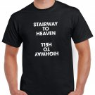 Stairway To Heaven High Way To Hell  ACDC T-shirt AC/DC Tshirt Hard Rock Top Tee