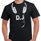 Dj T-shirt Headphones Heavy Metal Rock Cool Tshirt Festival Party Top Tee