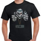 Killer Skull Guns Gothik T-shirt Heavy Metal Cool Tshirt Festival Party Top Tee