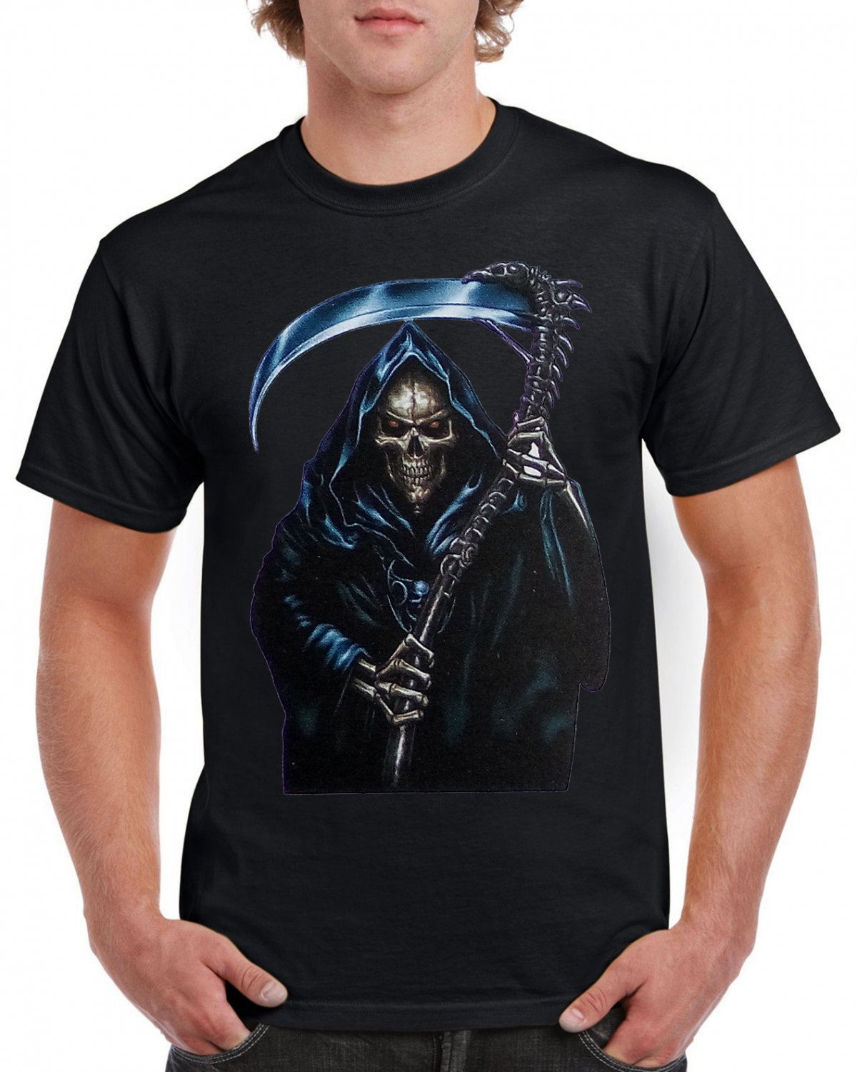 Gothik Sickle Mummy Snake T-shirt Heavy Metal Rock Tshirt Festival Top Tee