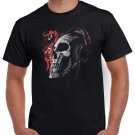 Hard Rock Heavy Metal Tshirt Skull Skeleton Headphones T-shirt Cool Music Festival