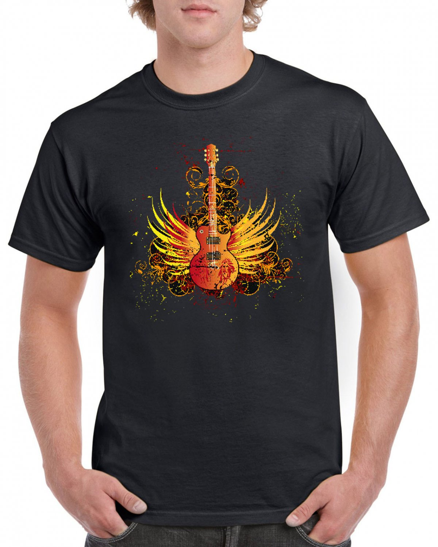 Hard Rock T-shirt Guitar Cool Music Tshirt Festival Top Tee
