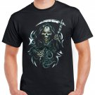 Heavy Metal Skull Sickle T-shirt Devil Cool Tshirt Music Festival Top Tee