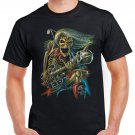 Heavy Metal Skull Skeleton Beast T-shirt Devil Guitar Cool Tshirt Music Festival Top Tee