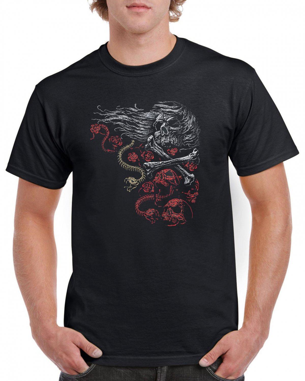 Heavy Metal Skulls Crossbones T-shirt Devil Cool Tshirt Music Festival Top Tee