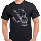 Purple Guitar T-shirt Rock Heavy Metal Cool Tshirt Festival Top Tee