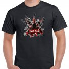 Red Hard Rock T-shirt Guitar Rock Heavy Metal Cool Tshirt Festival Top Tee