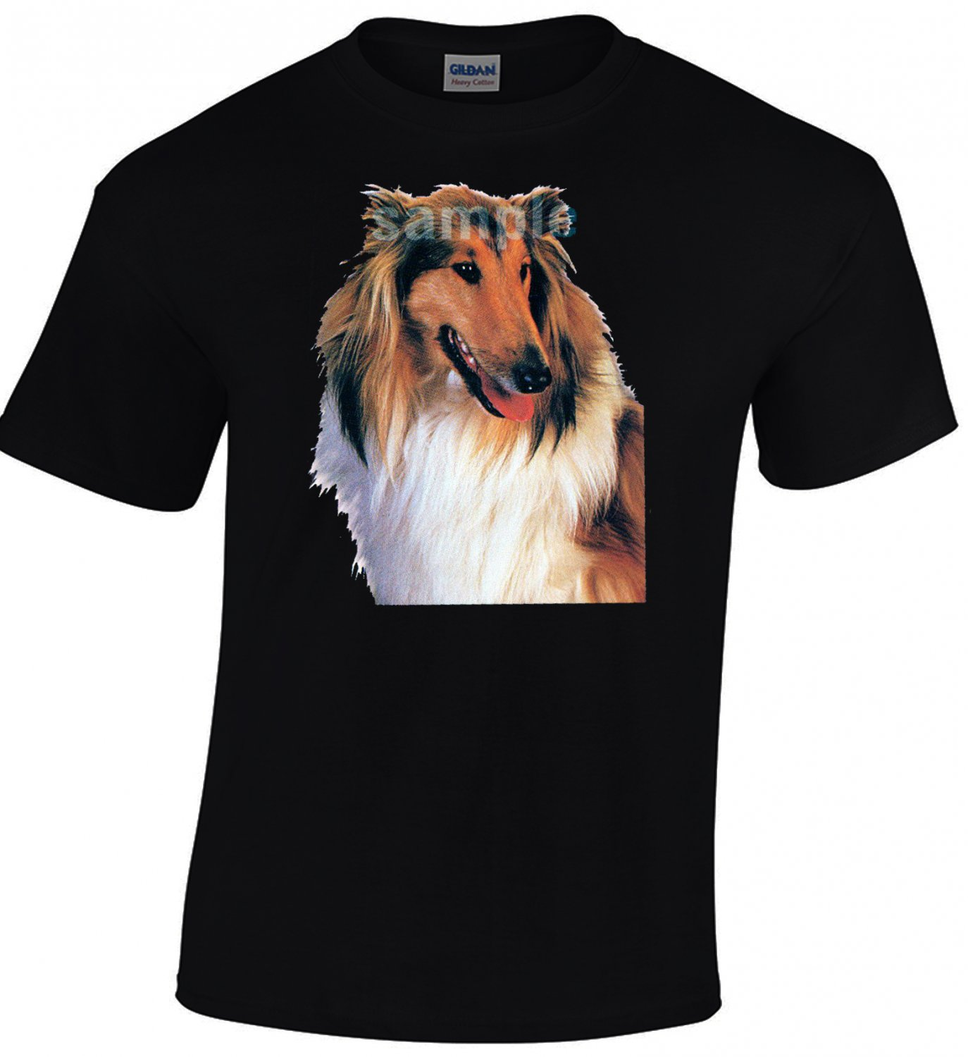 Collie Lassie T-shirt Dog Lovers Tshirt Cool Unisex Top Tee