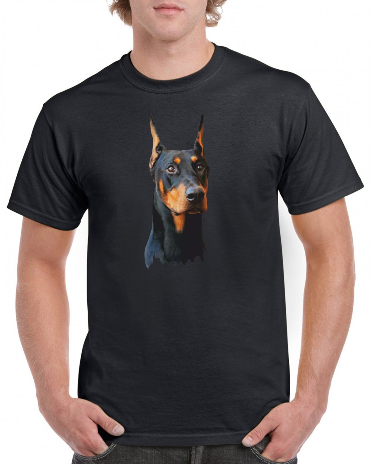Doberman Dog T-shirt Dog Lovers Cool Tshirt Unisex Top Tee