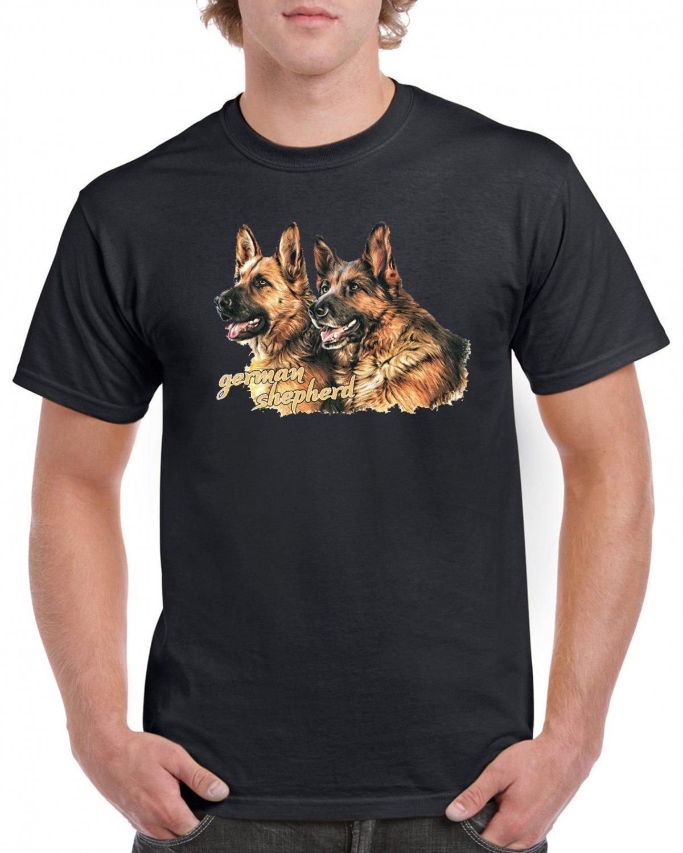 German Shepherd Hairy Dogs T-shirt Dog Lovers Cool Tshirt Unisex Top Tee