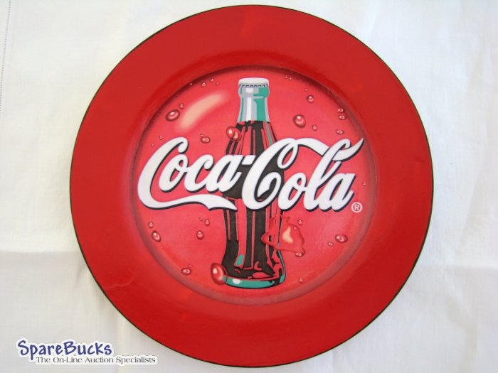 NEW Coca Cola Classic Red Collectable Deoupage Plate LE