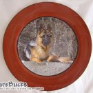 NEW Brown German Shepherd Collectable Decoupage Plate LE