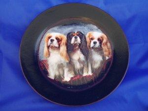 Cavalier King Charles Spaniel Decoupage Plate LE