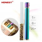 Honest mini refillable lighters, men & female creative slim mini matchstick flint gas light