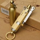 Vintage Style (copper/steel) Oil cigarettes Kerosene Lighter Repeated Use Cigarette grinding wh