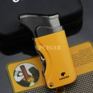 COHIBA Pocket Cigar Lighter Mens Metal Windproof Torch Jet Flame Butane Gas Refillable Cigarett