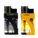 COHIBA Butane Gas Jet 2 Torches Adjustable Flame Metal Plastic Lighter Delicate Windproof Cigar