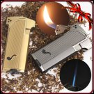 Jobon Windproof  Metal Jet Double Flame Cigarette Cigar Smoking Pipe Butane Gas Lighter BC243