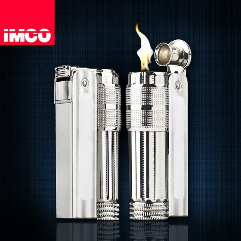 Brand IMCO  Metal Kerosene Repeated Use cigaret lighter Classic Designs Lighter Stainless Steel