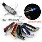 HONEST 1300'C Butane Jet 1300 C Lighter Torch Cigarette Cigar Lighter Cigar Tools 5 Colo BC431