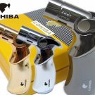 Original COHIBA Tool Pocket Size Gloss Yellow Metal Gun Shape Shape Butane Gas Windproof 3 Torc