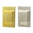 S.T Dupont Metal Lighter Windproof Cigarette Gas Lighter Cigar Smoking Lighter  Gold Sliver  BC526