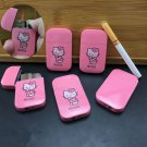 Pink Lovely HelloKitty lighter gas windproof ultra-thin electronic lighters girls love birthday