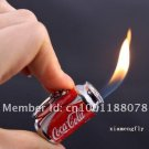 20pcs/lot with display box MINI Zip-top can Shape Flame Cigarette Lighter With Keychain Butance