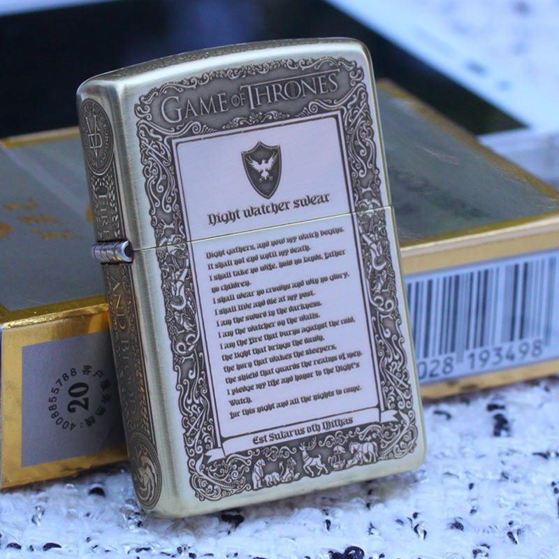 windproof lighter Kerosene lighter Five surface sculpture power game The song of ice and fire
