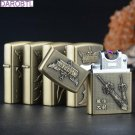 LOL League Vintage Bronze Weapon Carving Cigarette Lighter Charging ARC Windproof Lighters elec