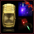 Peculiar Classic Watch Style W/4 LED Green Flame Metal Cigarette Cigar Butane Gas Lighter BC862