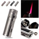 Fast Shipping W/Cigar Punch Gadget Refillable Gas Quadruple HOT Pink Flame Windproof Torch Ciga