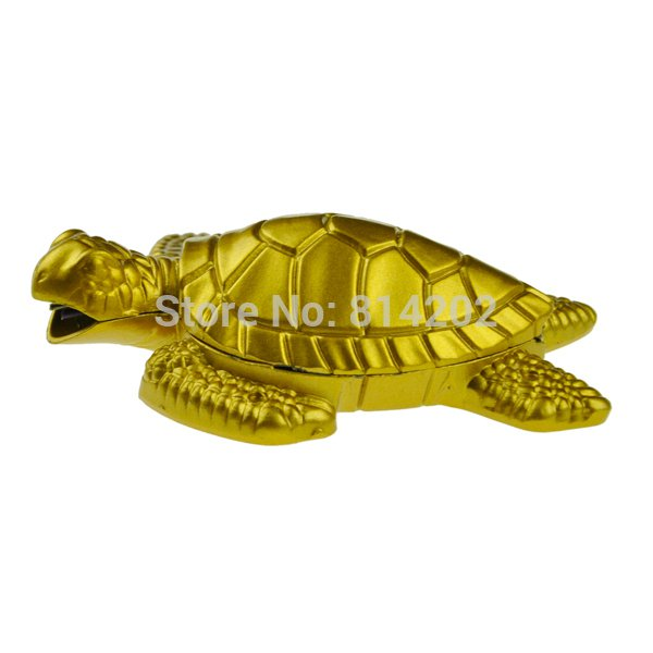 Small Water Turtle Metal Butane Lighter Gas Refillable Cigarette Cigar Lighter with Keychain BC1018