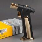 COHIBA brand metal windproof Men's cigar gas Lighter,Portable gold refillable Butane torch