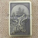 Bronze relief embossing kerosene lighters personality culture Wolf Classic Metal attached prese