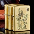 Metal windproof kerosene brand lighters representative of justice Chinese historical figure gua