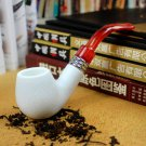 Sepiolite White Jade Red Tail Cigarette Holder Can Be Removed and Cleaned Old-fashioned Pipe Sm