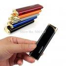 Ultrathin Slim Hot Pink Jet Flame Windproof Cigarette Lighter Refillable Butane Gas Cigarette L