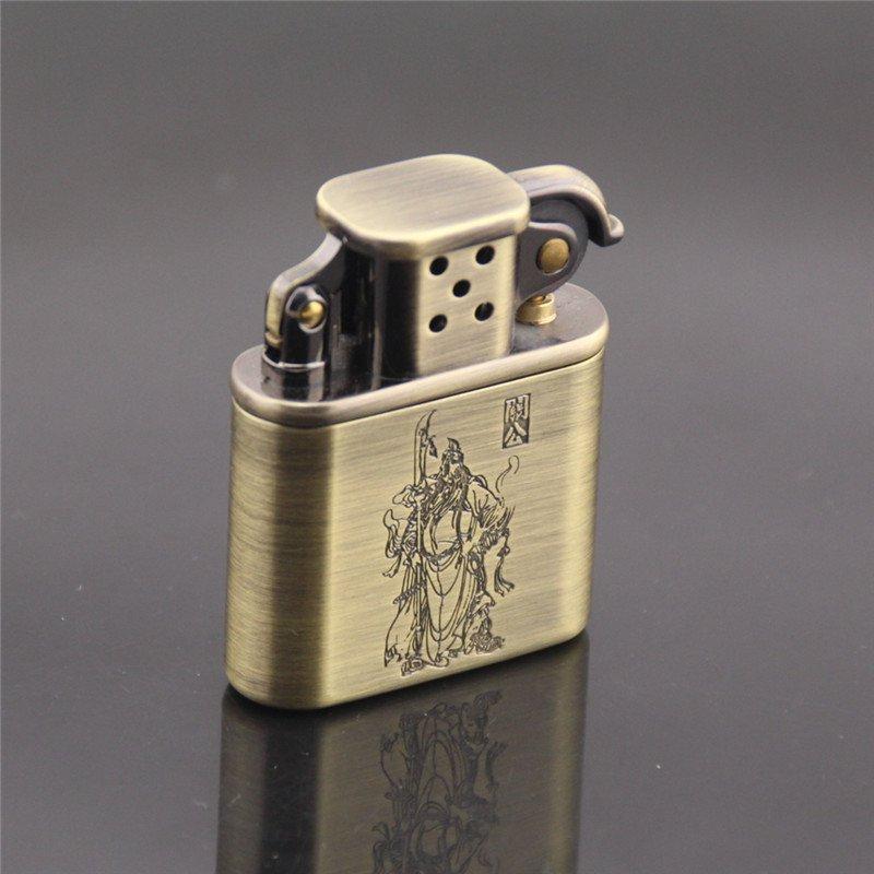 2016 Vintage metal oil lighter, copper gasoline cigarette lighter,can put in cigarette box BC1412